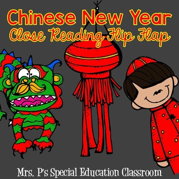 Chinese New Year Close Reading Flip Flap