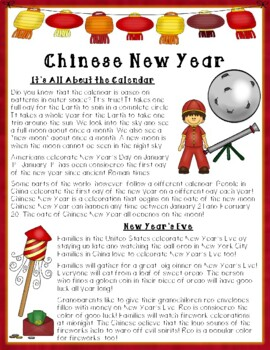 Chinese New Year Close Reading Passage and Activities