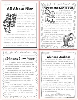 Chinese New Year {Close Reading Passages and More}