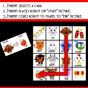 Chinese New Year Coding Mat for Bee-Bot or Code & Go Robot Mouse