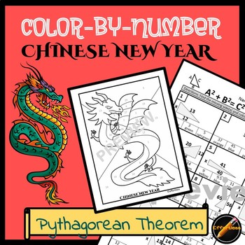 Chinese New Year Color By Number: Pythagorean Theorem