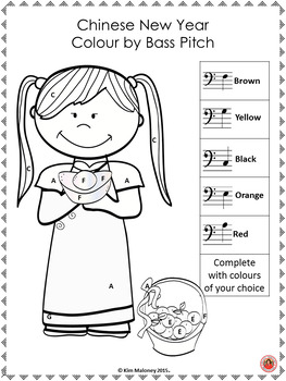 Chinese New Year Music Lessons: Colour by Music Symbol: British Terminology