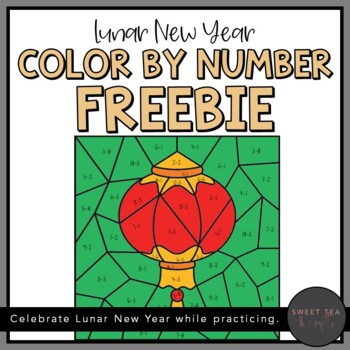Chinese New Year - Color by Number - Freebie!