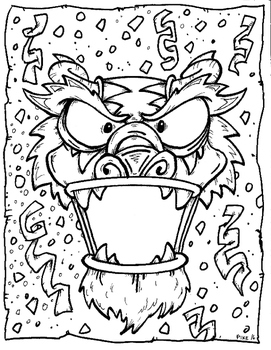 chinese new year coloring page - Chinese New Year Coloring Pages