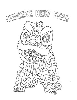 Chinese New Year Coloring Sheet