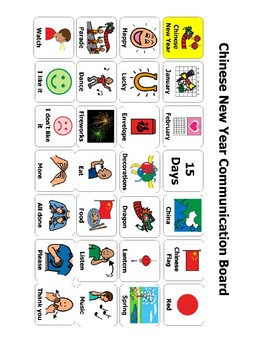 Chinese New Year Communication Board/ AAC