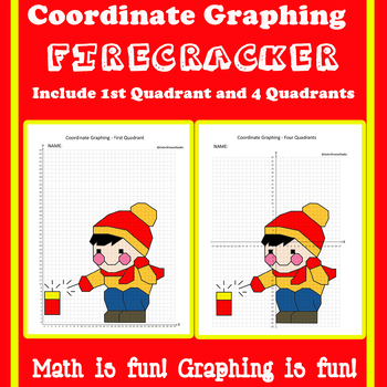 Chinese New Year Coordinate Graphing Picture: Firecracker