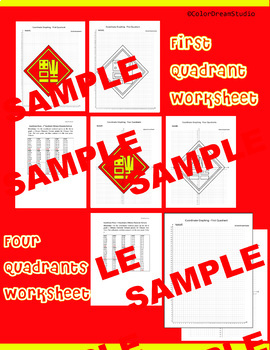 Chinese New Year Coordinate Graphing Picture:Chinese New Year Bundle