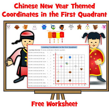 Chinese New Year Coordinates in First Quadrant