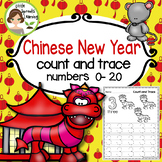 Chinese New Year Count and Trace 1 - 20 (includes Zodiac Animals)