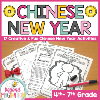 Chinese New Year Creative Worksheets for Chinese New Year
