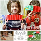 Chinese New Year DRAGON Puppet printable - Paper Puppets -