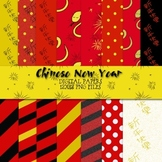 Chinese New Year Digital Papers