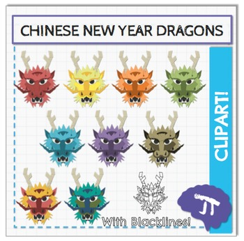 Chinese New Year Dragon Clipart and Art Activity