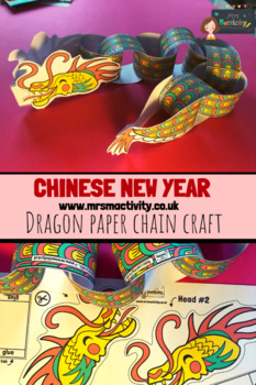 Chinese New Year Dragon Paper Chain Craft