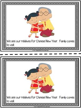 Chinese New Year Emergent Reader Book AND Interactive Activities