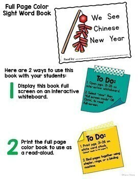 Chinese New Year Emergent Reader and Activities