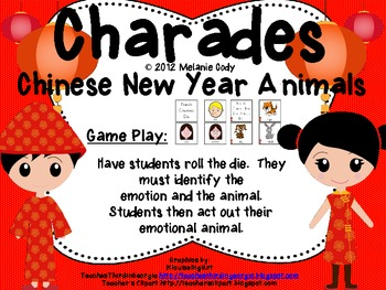 Chinese New Year English Animal Feelings Charades