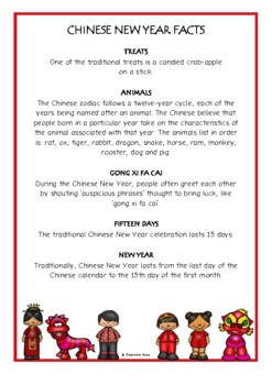 Chinese New Year Fact Cards