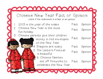 Chinese New Year Fact or Fiction by The Army Wife Teacher ...