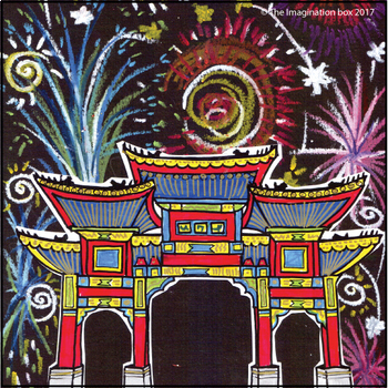 Chinese New Year Art Activity - Fireworks and Lanterns