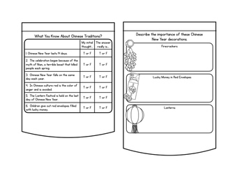 Chinese New Year Activity Flip Book