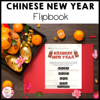Chinese New Year Flip Book with map information and traditions
