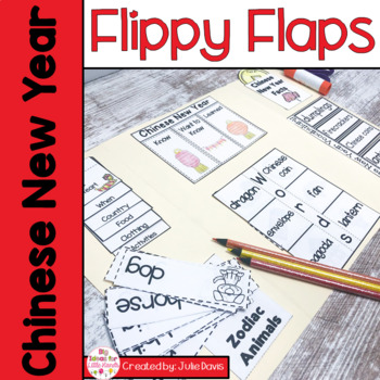 Chinese New Year Flippy Flaps Interactive Notebook Lapbook