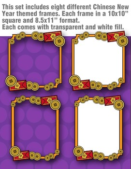 Chinese New Year Frames Clipart