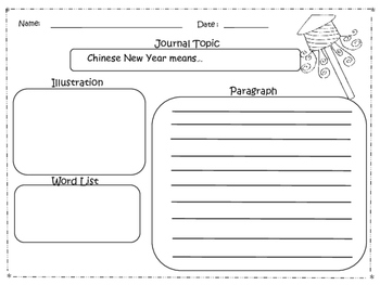 Chinese New Year Frayer Models and Writing Tools