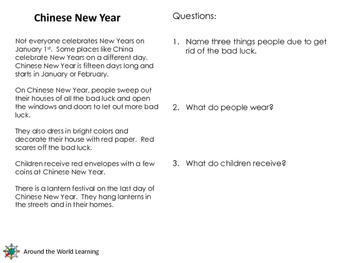 Chinese New Year Unit (Grades 1-3)