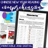 Chinese New Year Reading Passage with Comprehension Assessment and craft!