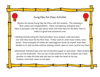 Chinese New Year-Gung Hay Fat Choy Mini Lesson