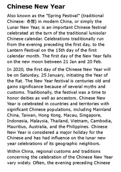 Chinese New Year Handout
