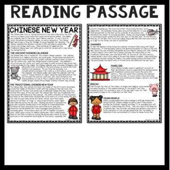 Chinese New Year- History & Overview Reading Comprehension Worksheet