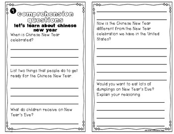 Chinese New Year Instant Reading Lesson