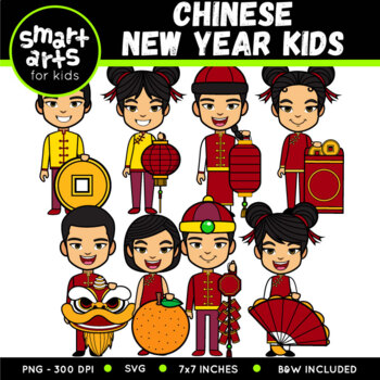 chinese new year kids clip art