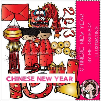 Melonheadz: Chinese New Year clip art - LINE ART