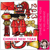 Chinese New Year clip art - LINE ART- by Melonheadz