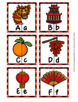 Chinese New Year Letter Match Puzzles