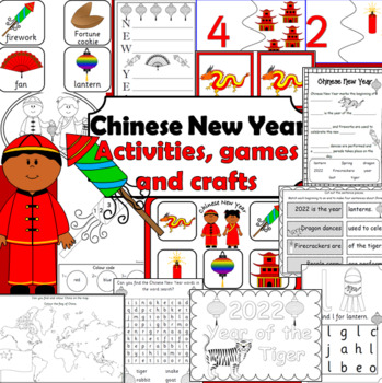 Chinese New Year- Literacy printables and craftivities