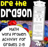 Chinese New Year Math- Dre the Dragon Multi-Step Word Problem Craftivity
