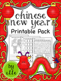 Chinese New Year Math and Literacy Printable Pack