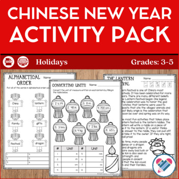 Chinese New Year Reading Writing and Math Activities