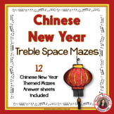 Chinese New Year Music Activities: Treble Pitch Mazes for