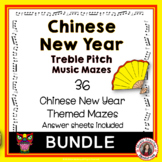 Chinese New Year Music Maze Bundle: Treble Clef Notes