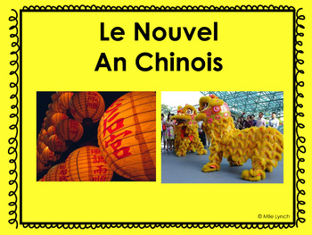 Chinese New Year (Nouvel An Chinois) French PowerPoint and activities