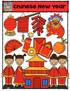 Chinese New Year  {P4 Clips Trioriginals Digital Clip Art}
