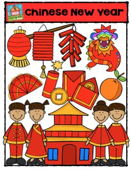 Chinese New Year  {P4 Clips Trioriginals Digital Clip Art}