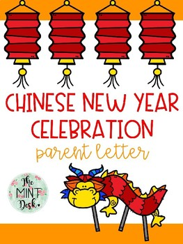 Chinese New Year Celebration Parent Letter **Editable Text**